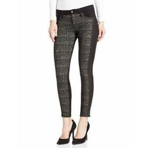 Joe's Jean's Plaid Ponte Skinny Ankle Pant Jeans